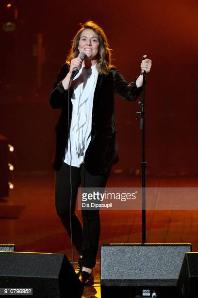 Recording artist Brandi Carlile performs onstage during MusiCares Person of the Year honoring Fleetwood Mac at Radio City Music Hall on January 26...