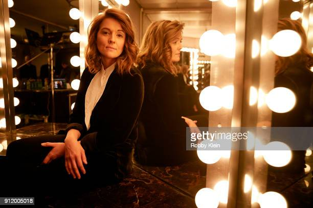Recording artist Brandi Carlile poses for a photo during MusiCares Person of the Year honoring Fleetwood Mac at Radio City Music Hall on January 26...