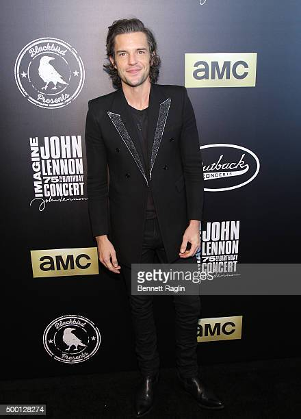 Recording artist Brandon Flowers attends the Imagine John Lennon 75th Birthday Concert at Madison Square Garden on December 5 2015 in New York City