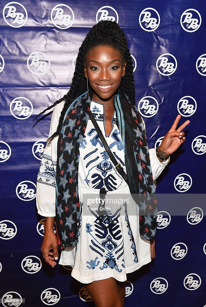 Recording Artist Brandy Norwood Attends Bronner Brothers International Beauty Show At Georgia World Congress Center On