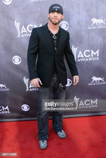 Recording artist Brantley Gilbert attends the 49th Annual Academy of Country Music Awards at the MGM Grand Garden Arena on April 6 2014 in Las Vegas...