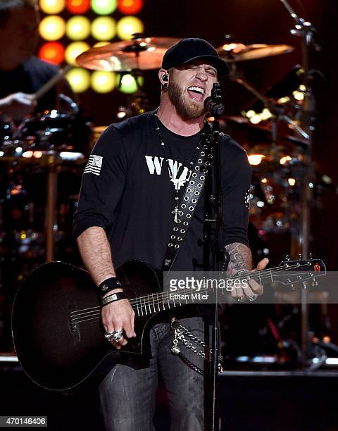 Recording artist Brantley Gilbert performs onstage during ACM Presents Superstar Duets at Globe Life Park in Arlington on April 17 2015 in Arlington...