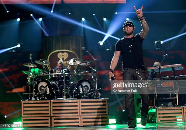 Recording artist Brantley Gilbert performs onstage during the 2015 iHeartRadio Country Festival at The Frank Erwin Center on May 2 2015 in Austin...