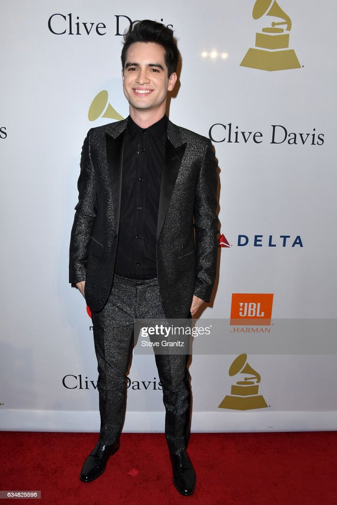 Recording artist Brendon Urie attends Pre-GRAMMY Gala and Salute to Industry Icons Honoring Debra Lee at The Beverly Hilton on February 11, 2017 in Los Angeles, California.