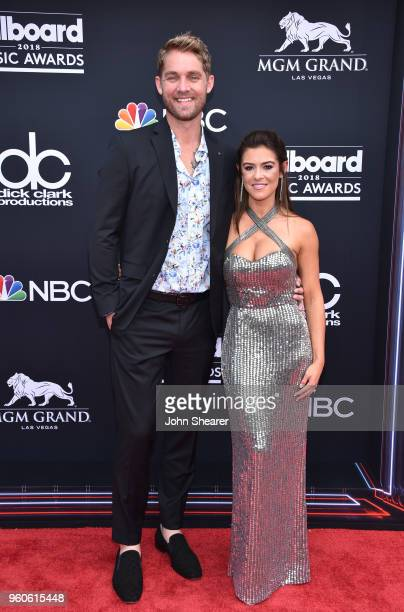 Recording artist Brett Young and Taylor Mills attend the 2018 Billboard Music Awards at MGM Grand Garden Arena on May 20 2018 in Las Vegas Nevada