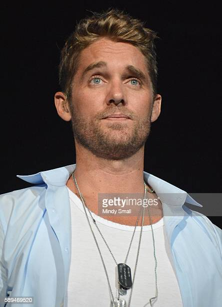 Recording artist Brett Young performs during Coyote CountryFest at the Orleans Arena on August 13 2016 in Las Vegas Nevada
