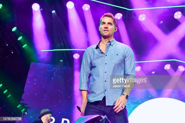 Recording Artist Brett Young performs during Music City Midnight at Bicentennial Capitol Mall State Park on December 31 2018 in Nashville Tennessee