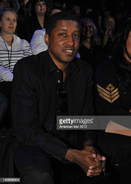 Recording artist Brian 'Babyface' Edmonds in the audience at FOX's American Idol Season 11 Top 13 Live Performance Show on March 7 2012 in Hollywood...
