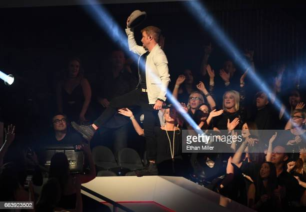 Recording artist Brian Littrell of the Backstreet Boys performs during the 52nd Academy of Country Music Awards at TMobile Arena on April 2 2017 in...