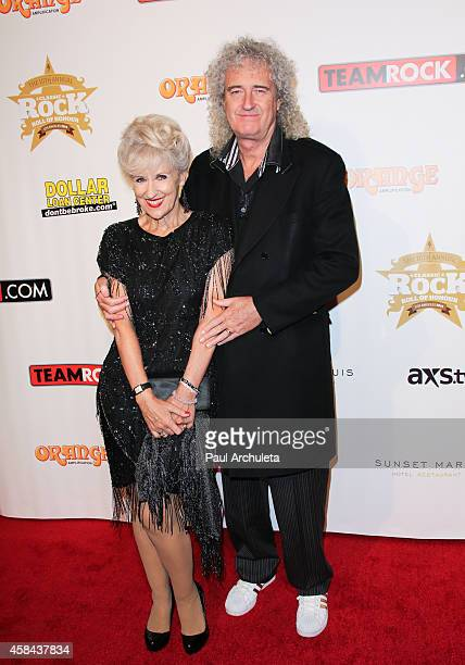 Recording Artist Brian May and his Wife Anita Dobson attend the 10th Annual Classic Rock Awards Classic Rock Roll Of Honour Award Ceremony at Avalon...