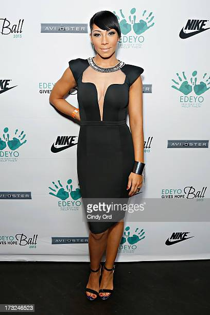 Recording artist Bridget Kelly attends the 2013 Edeyo Gives Hope Ball at Highline Ballroom on July 10 2013 in New York City