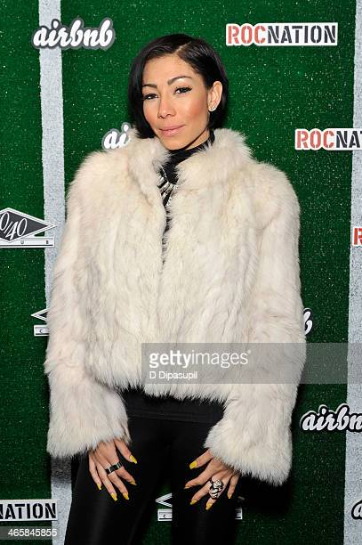 Recording artist Bridget Kelly attends the Airbnb Super Suite at Roc Nation Sports Airbnb's Welcome To New York event at 40 / 40 Club on January 29...