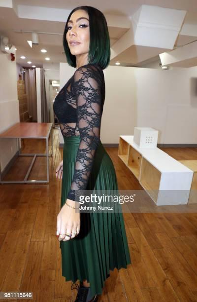 Recording artist Bridget Kelly attends the Bridget Kelly Listening Session on April 24 2018 in New York City