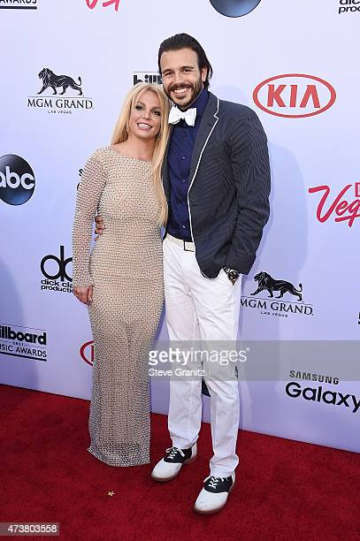Recording artist Britney Spears and producer Charlie Ebersol attend he 2015 Billboard Music Awards at MGM Grand Garden Arena on May 17 2015 in Las...