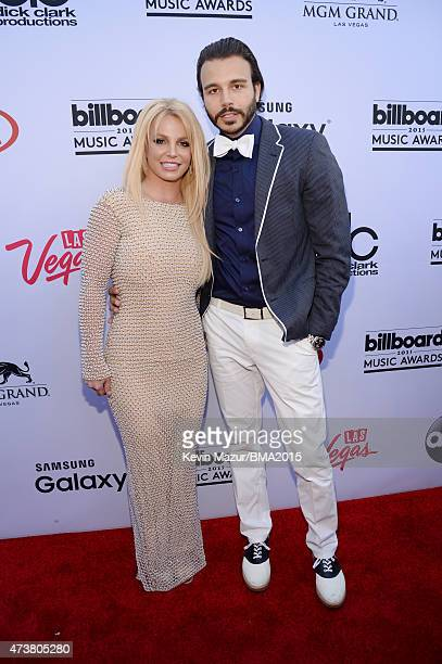 Recording artist Britney Spears and producer Charlie Ebersol attend the 2015 Billboard Music Awards at MGM Grand Garden Arena on May 17 2015 in Las...