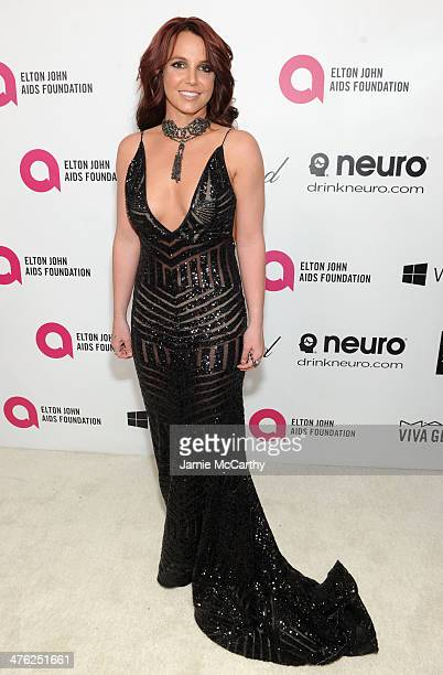 Recording artist Britney Spears attends the 22nd Annual Elton John AIDS Foundation Academy Awards Viewing Party at The City of West Hollywood Park on...