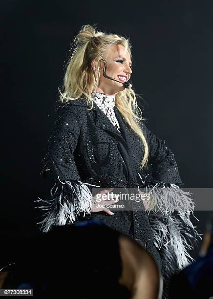 Recording artist Britney Spears performs onstage during 102.7 KIIS FM's Jingle Ball 2016 presented by Capital One at Staples Center on December 2,...