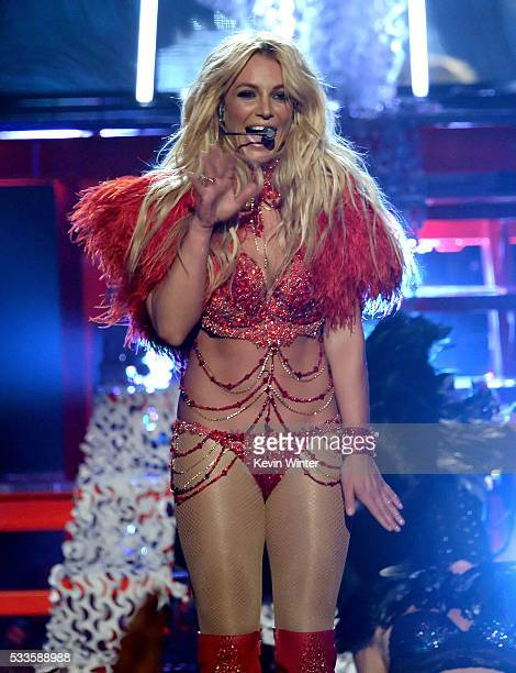 Recording artist Britney Spears performs onstage during the 2016 Billboard Music Awards at TMobile Arena on May 22 2016 in Las Vegas Nevada