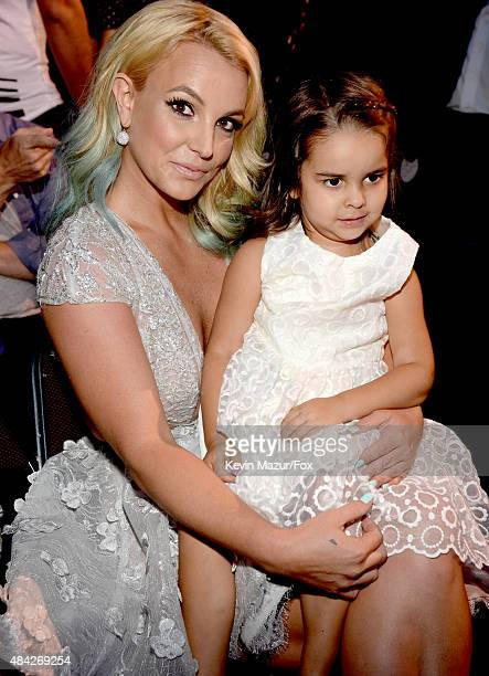 Recording artist Britney Spears with her niece attends the Teen Choice Awards 2015 at the USC Galen Center on August 16, 2015 in Los Angeles,...