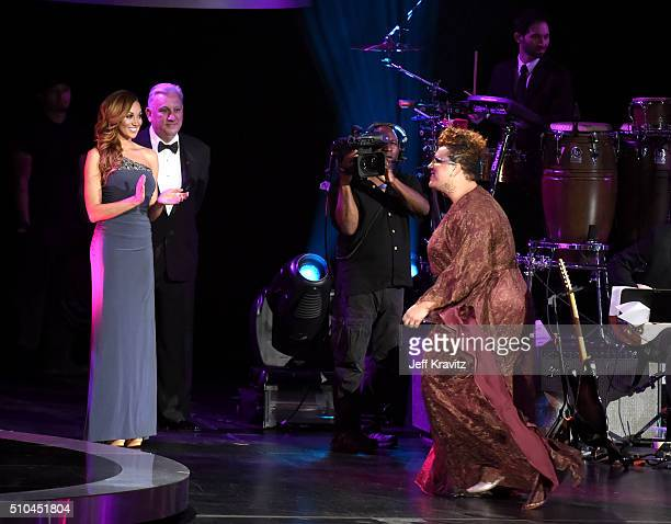 Recording artist Brittany Howard of Alabama Shakes walks onstage to accept the award for Best Alternative Music Album for 'oung Color' during The...