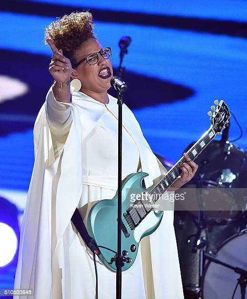 Recording artist Brittany Howard of music group Alabama Shakes performs onstage during The 58th GRAMMY Awards at Staples Center on February 15 2016...