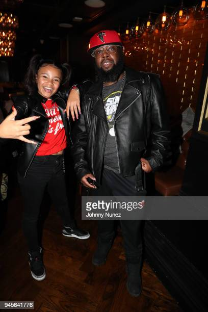 Recording artist Brooklyn Queen and talent manager Dorian Washington attend the 2018 Brooklyn Queen Dinner Hosted By Angela Yee at Sugar Factory NYC...