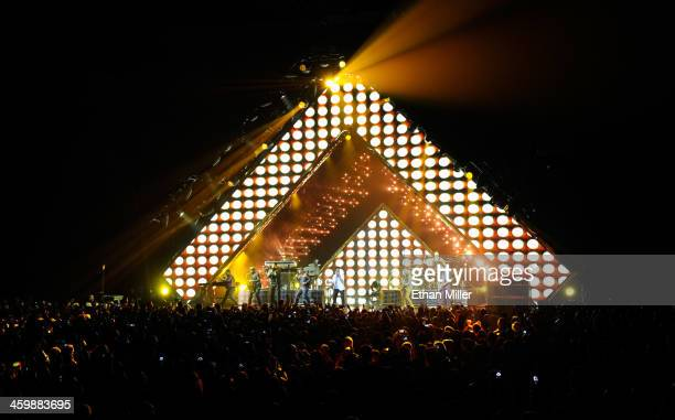 Recording artist Bruno Mars performs during a New Year's Eve concert inside The Chelsea at The Cosmopolitan of Las Vegas on December 31 2013 in Las...