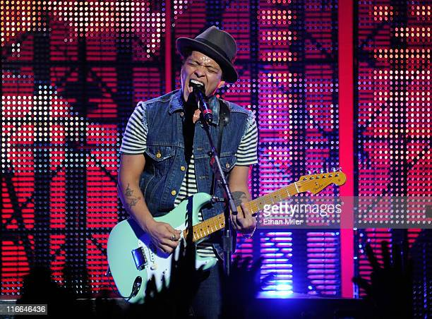 Recording artist Bruno Mars performs during the Hooligans in Wondaland tour at The Pearl concert theater at the Palms Casino Resort June 16 2011 in...