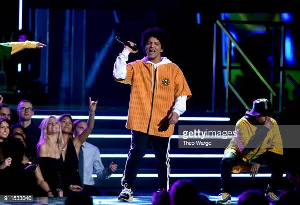 Recording artist Bruno Mars performs onstage during the 60th Annual GRAMMY Awards at Madison Square Garden on January 28, 2018 in New York City.