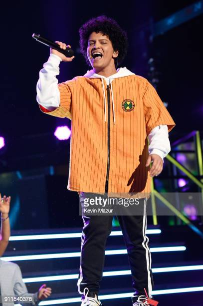 Recording artist Bruno Mars performs onstage during the 60th Annual GRAMMY Awards at Madison Square Garden on January 28 2018 in New York City