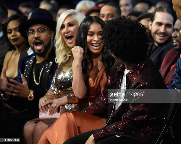 Recording artist Bruno Mars reacts to winning Record of the Year during the 60th Annual GRAMMY Awards at Madison Square Garden on January 28 2018 in...