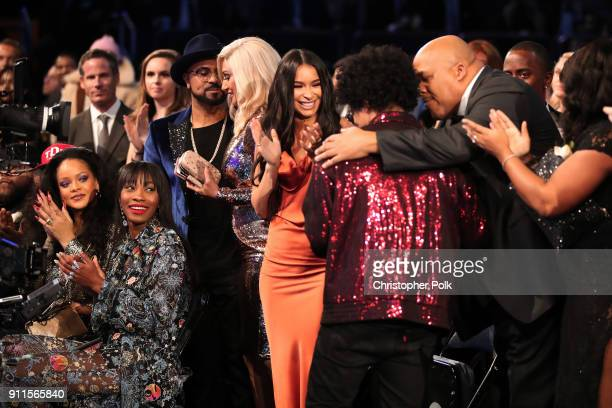 Recording artist Bruno Mars wins of Album of the Year for '24K Magic' at the 60th Annual GRAMMY Awards at Madison Square Garden on January 28 2018 in...