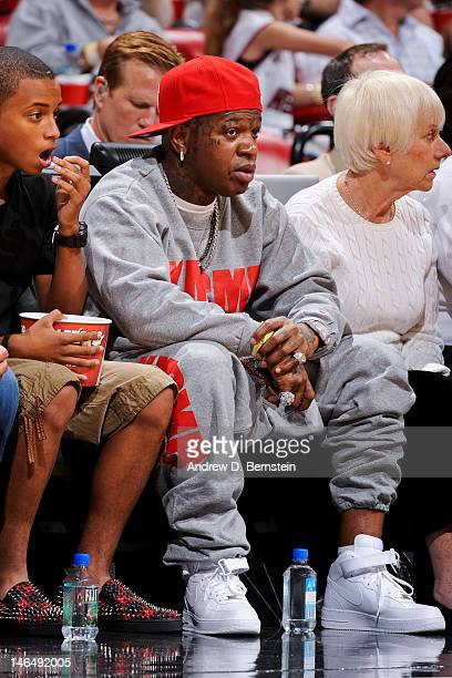 Recording artist Bryan 'Birdman' Williams attends Game Three of the 2012 NBA Finals between the Oklahoma City Thunder and Miami Heat at American...