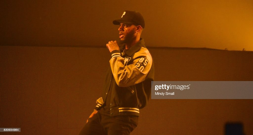 Recording artist Bryson Tiller performs at The Joint inside the Hard Rock Hotel & Casino on August 12, 2017 in Las Vegas, Nevada.
