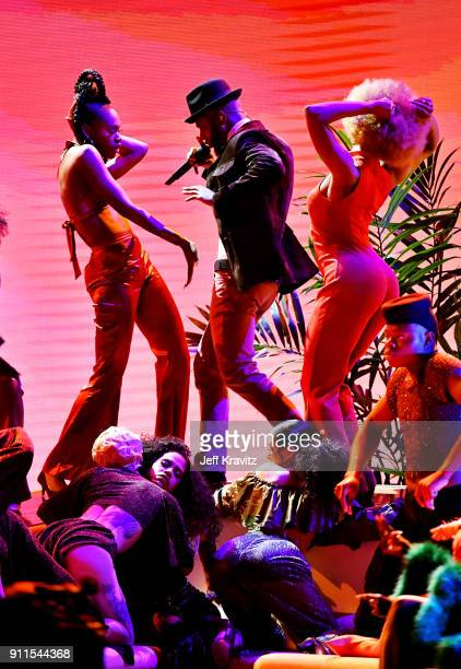 Recording artist Bryson Tiller performs onstage during the 60th Annual GRAMMY Awards at Madison Square Garden on January 28 2018 in New York City