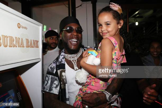 Recording artist Burna Boy attends the Burna Bank African Giant Installation At Lover's Rock on August 14 2019 in New York City