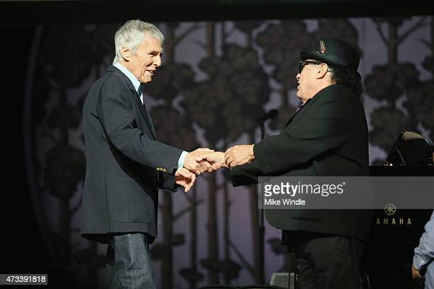 Recording Artist Burt Bacharach and actor Danny DeVito onstage during the SeriousFun Children's Network 2015 Los Angeles Gala An Evening Of...