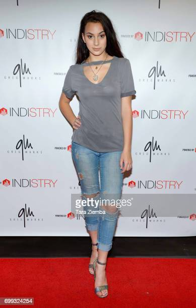 Recording artist Calista Quinn attends Greg Marks 'Letting Go' single release party at Magnolia Park on June 20 2017 in Burbank California