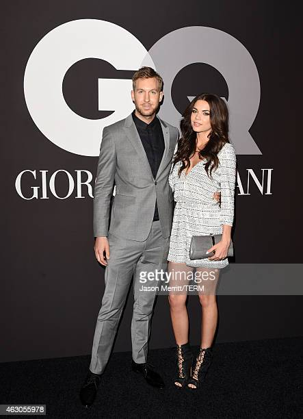 Recording artist Calvin Harris and model Aarika Wolf attend GQ and Giorgio Armani Grammys After Party at Hollywood Athletic Club on February 8 2015...