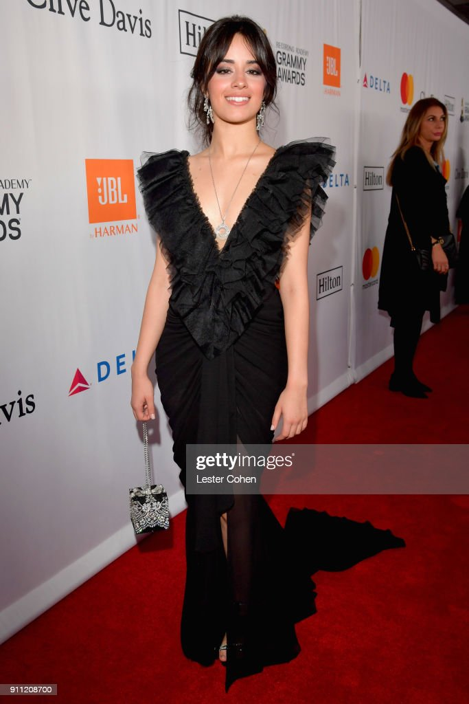 Recording artist Camila Cabello attends the Clive Davis and Recording Academy Pre-GRAMMY Gala and GRAMMY Salute to Industry Icons Honoring Jay-Z on January 27, 2018 in New York City.