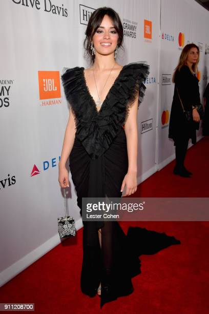 Recording artist Camila Cabello attends the Clive Davis and Recording Academy PreGRAMMY Gala and GRAMMY Salute to Industry Icons Honoring JayZ on...