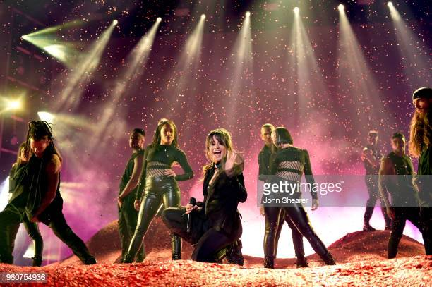 Recording artist Camila Cabello performs onstage at the 2018 Billboard Music Awards at MGM Grand Garden Arena on May 20 2018 in Las Vegas Nevada