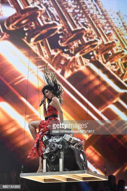 Recording artist Camila Cabello performs onstage during the 2017 MTV Movie And TV Awards at The Shrine Auditorium on May 7 2017 in Los Angeles...