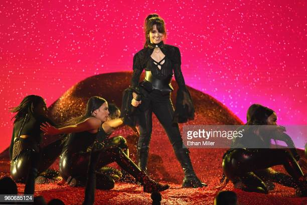 Recording artist Camila Cabello performs onstage during the 2018 Billboard Music Awards at MGM Grand Garden Arena on May 20 2018 in Las Vegas Nevada
