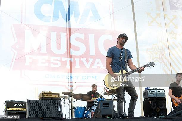 Recording Artist Canaan Smith performs at the 2015 CMA Festival KickOff Concert Downtown Nashville on June 10 2015 in Nashville Tennessee