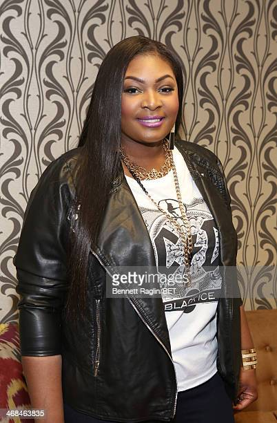 Recording artist Candice Glover visits 106 Park at BET studio on February 10 2014 in New York City