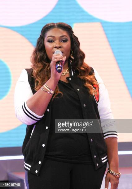 Recording artist Candice Glover visits 106 Park at BET studio on December 17 2013 in New York City