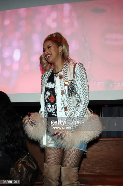 Recording artist Cardi B attends her Silent Listening Party on April 5 2018 in New York City