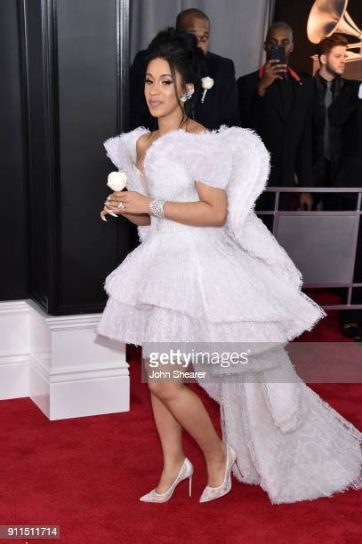 Recording artist Cardi B attends the 60th Annual GRAMMY Awards at Madison Square Garden on January 28 2018 in New York City