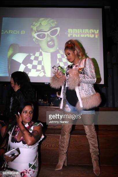 Recording artist Cardi B attends the Cardi B Silent Listening Party on April 5 2018 in New York City